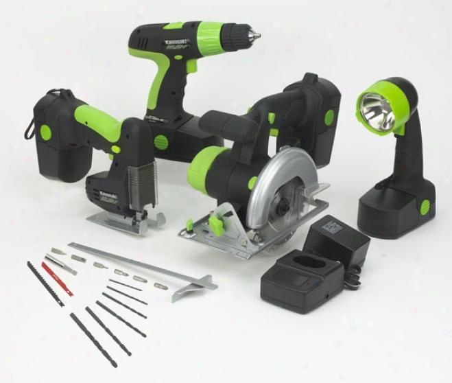 Kawasaki 19.2v 4 Piece Cordless Tool Kit