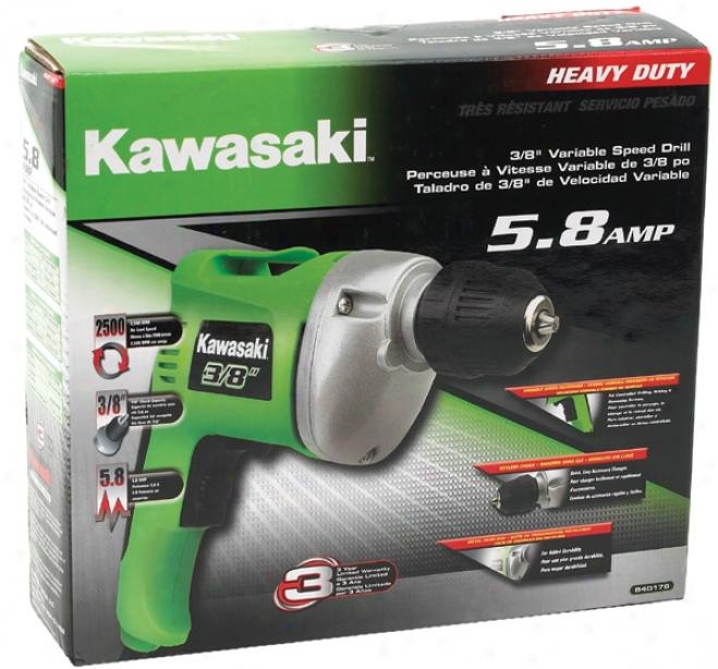 Kawasaki 5.8 Amp Heavy-duty Variable Speed Drill