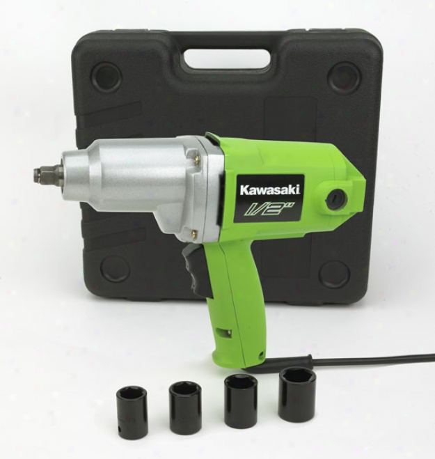 Kawasaki 7 Amp, ?'' Heavy Duty Impact Wrench Kit