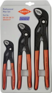 Knipex Cobra? Adjustable Grippinb Pliers - 3 Pc. Set-7''-10' '& 12''