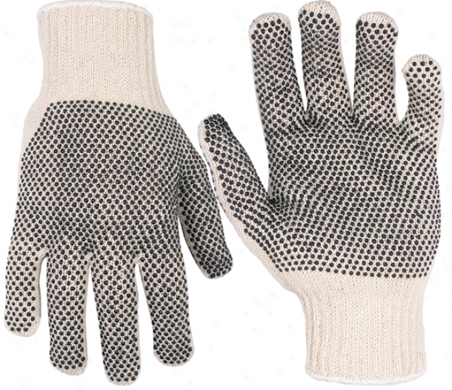 Knit Gloves With Pvc Dots