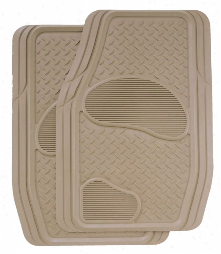 Kraco 2 Pc. Premium Rubber Front Mats For Trucks And Suvs
