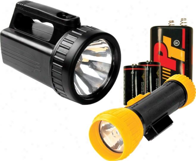 Kyrpton Flashlight/lantern Combo Set