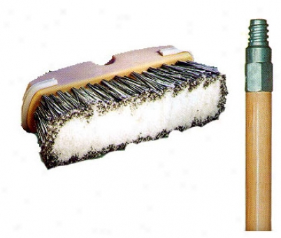 Laitner 10'' Bumper3d Wash Brush With Wood Handle