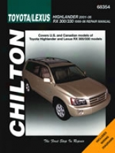 Lexus Rx300/330, Toyota Highlander (2001-06) Chilton Manual
