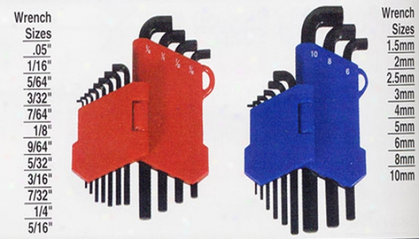 Lisle Short Head Hex Keyw, Fractional & Metric