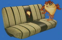 Looney Tunes Taz Barter Bench Seat Cover