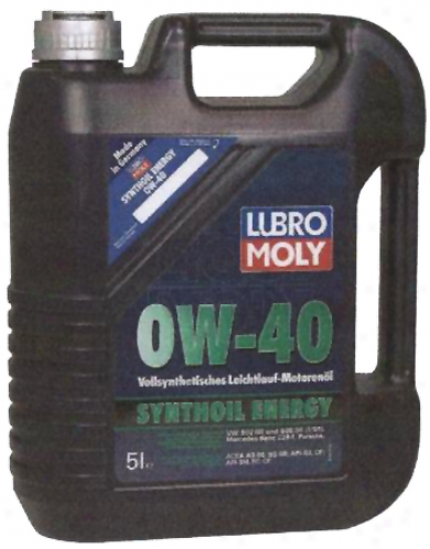 Lubro-moly Synthoil Energy 0w-40 Motor Oil (5 Liter)