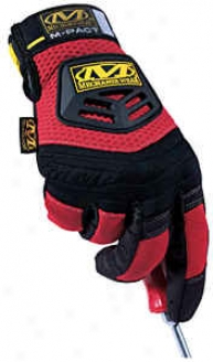 M-pact Gloves - Red; Medium