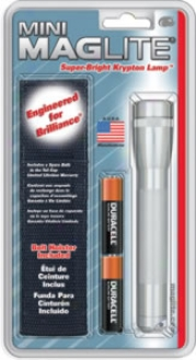 Maglite Mini Maglite? Aa Flashligh5 With Holster - Silver