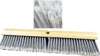 Marino 24'' Styrene Fiber Flagged Wood Block Push Broom Head