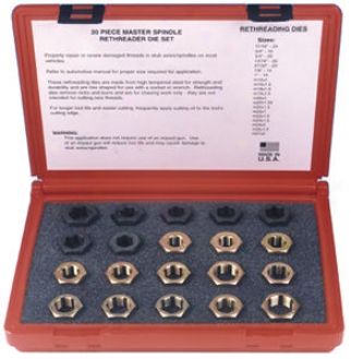 Master Spindle Rethreader Die Set