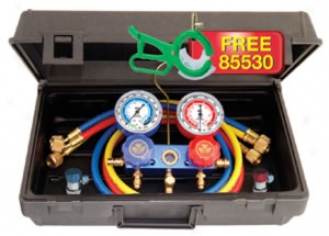 Mastercool R134a Manifold Gauge Set With Aluminum Standard Couplers