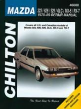 Mazda 323/626/929/glc/mx-6/rx-7 (1978-89) Chilton Manual