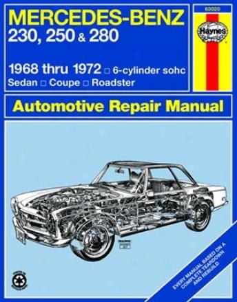 Mercedes Benz 230, 250 & 280 Haynes Repair Manual (1968 - 1972)