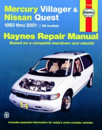 Mercury Villager & Nissan Quest Haynes Repair Manual (1993-2001)
