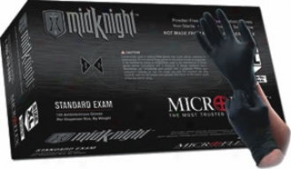 Microflex Midknight Black Nitrile Gloves-large - 100 Per Box