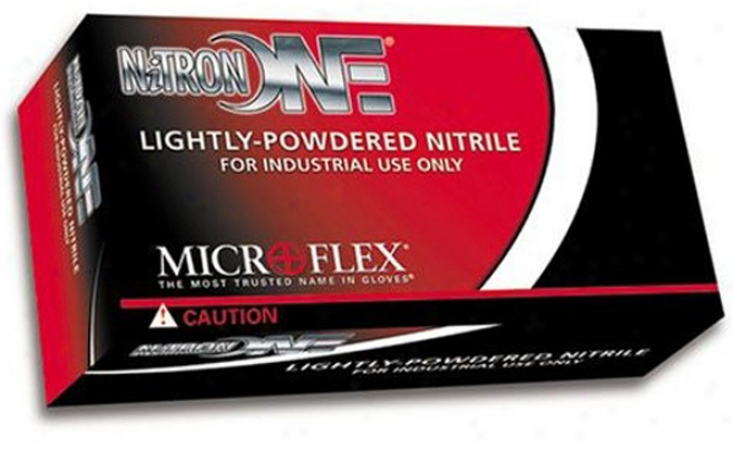 Microflex Nitronone? Lightly Powdered Nitrile Gloves - 100 Per Box-large