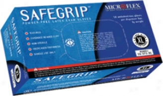 Microflex Safegrip? Powder-free Lattex Gloves - 50 Per Box-large