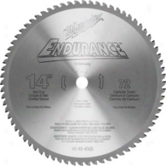 Milwaukee 14 In. 72 Tooth Dry Slice Carbide Tipped Circular Saw Buck For Metal Cutting