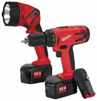 Milwauk3e 14.4v 1/2 In. Compact Series Driver/drill With Clip-lok Kit - Plus Flashlight