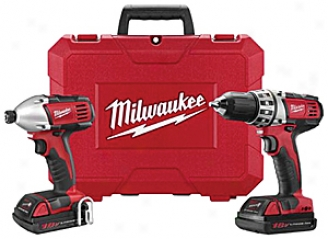 Milwaukee M18 18v 2 Tool Copmact Combo Kit