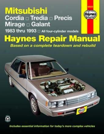 Mitsubishi Cordia, Trdia, Galant, Precis & Mirage Haynes Repair Manual (1983-1993)