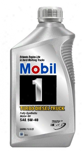 Mobil 1 Turbo Diesel Truck Synthetic Motor Oil 5w-40 (1qt)
