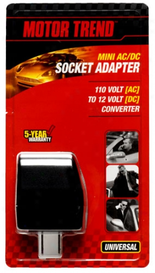 Motor Trend Mini Ac/dc Socket Adapter