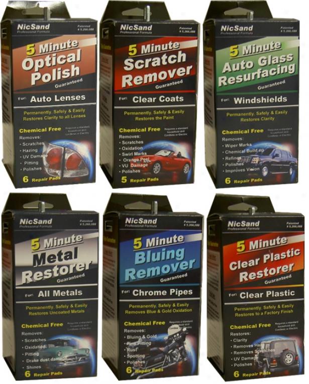 Nicsand Professional Surface Restoring Formula 5 Minute Repair Pads