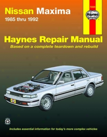 Nissan Maxima Haynes Repair Manual (1985 - 1992)
