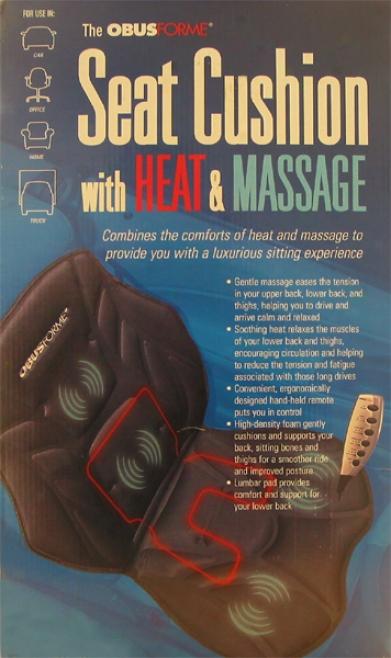 Obusforme Heat & Massage Seat Cushion