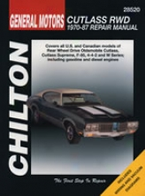 Oldsmobile Cutlass Rwd (1970-87) Chilton Manual