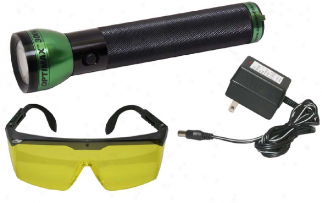 Optimax? 3000 Cordless Led Leak Detection Flashlight