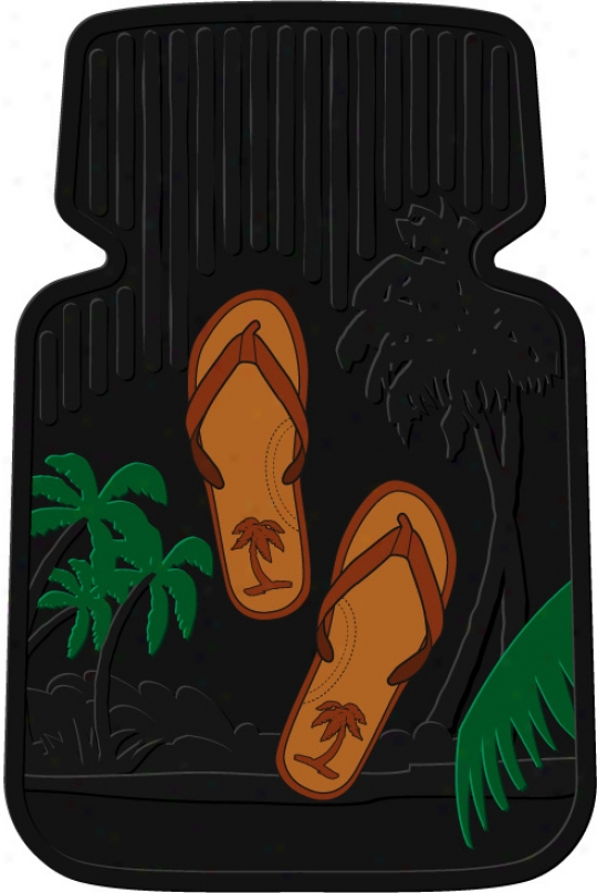 Token of victory Tree Flip Flop Floor Mats