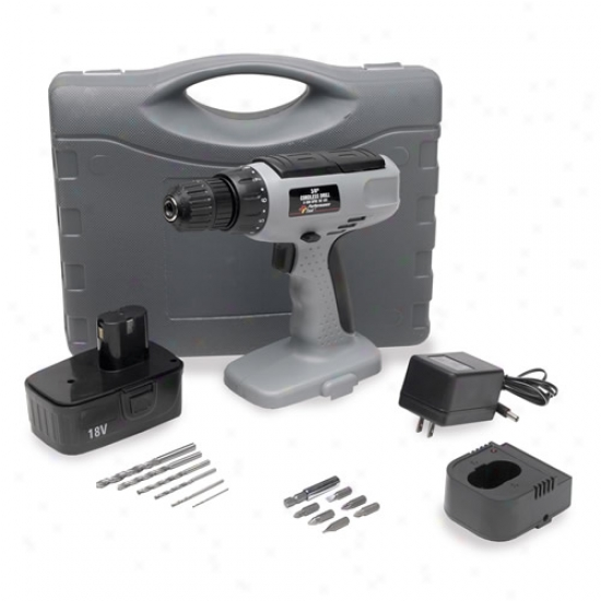Performance Hireling Power Series 18v Cordless Drill Kit