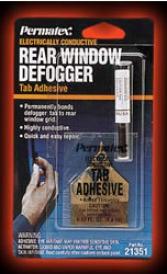 Prematex? Electrically Conductive Rear Window Defogger Tab Sticking