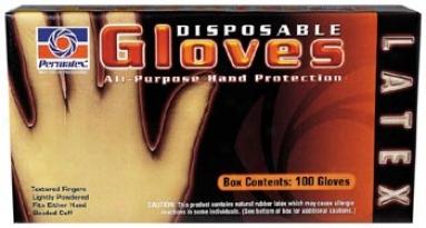 Permatex Large Disposable Latex Gloves Box (100 Ct.)