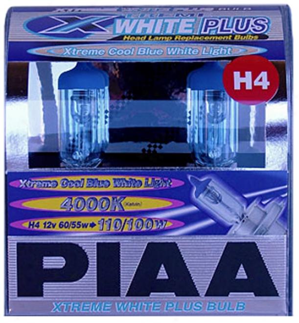 Piaa H4 Xtreme White Plus Bulb Twin Pack