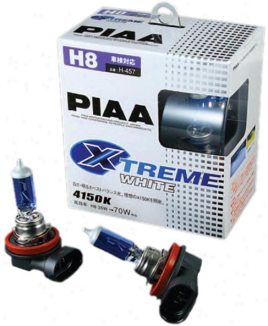 Piaa H8 Xtreme White Bulbs (twin Pack)
