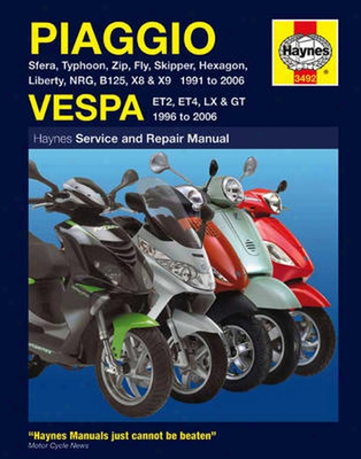 Piaggio And Vespa Haynes Repair Manual (1991 - 2006)