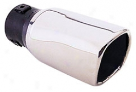 Pilot 3'' Soft Rectangular Slope Exhaust Tip