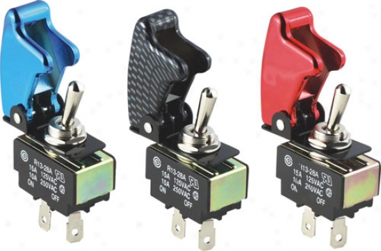 Pilot Anodized Safety Cover Toggle Switches