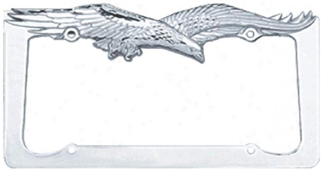 Pilot Chrome Eagle License Plate Frame