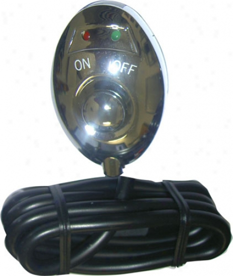 Pilot Chrome Led Push Button Switch