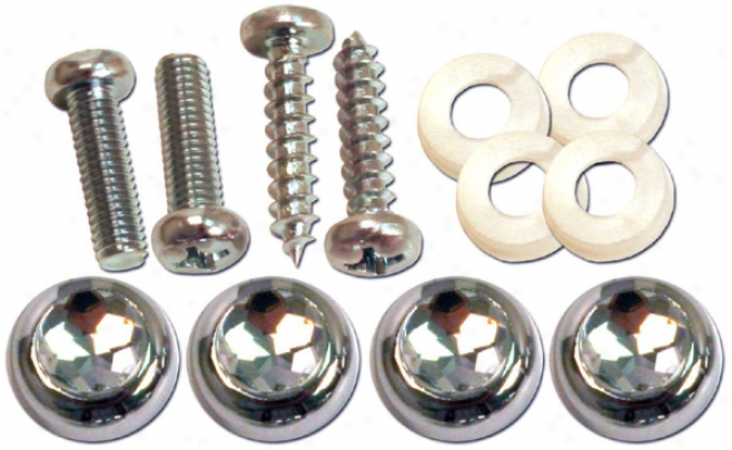 Pilot Diamond Cap License lPate Fasteners