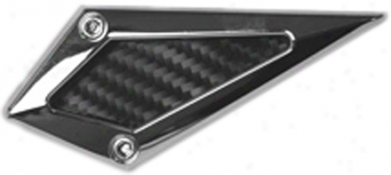 Pilot Stick-on Chrome Diamond Fender Air Vents (6 Piece Kit)