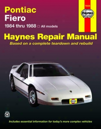 Pontiac Fiero Haynes Redress Manual (1984-1988)