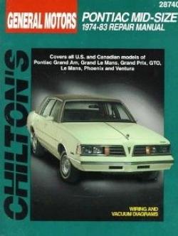 Pontiac Mid-size Cars (1974-83) Chilton Manual