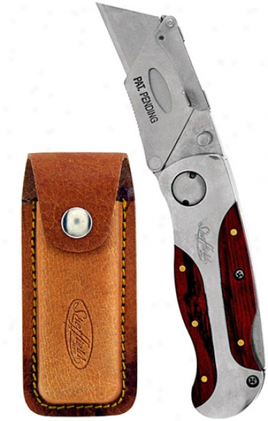 Premium Sheffield Lockback Usefulness Knife With Leather Holster